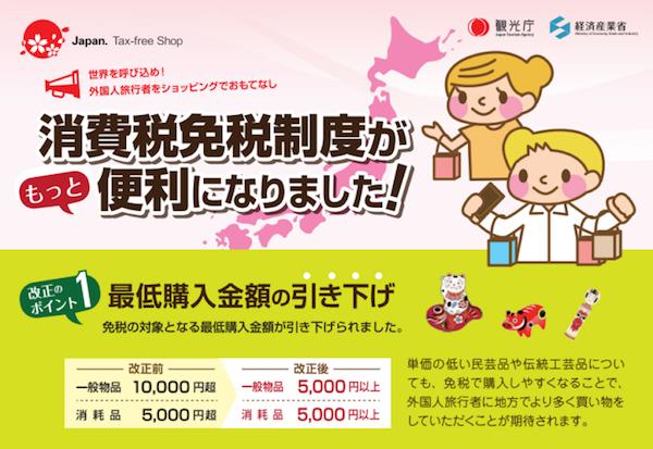 2016年 日本最新免税信息